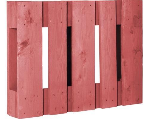 Demi palette de projet diagonale 60x80x15cm rouge suède