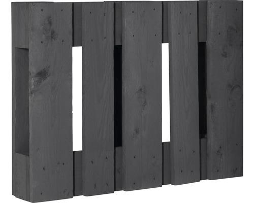 Demi palette de projet diagonale 60x80x15cm anthracite
