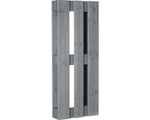 Stylepalette exclusive avec surface rabotée 100x40x12 cm gris