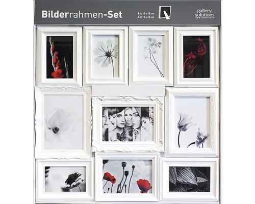 Cadre multivues 10 photos blanc 61x66 cm