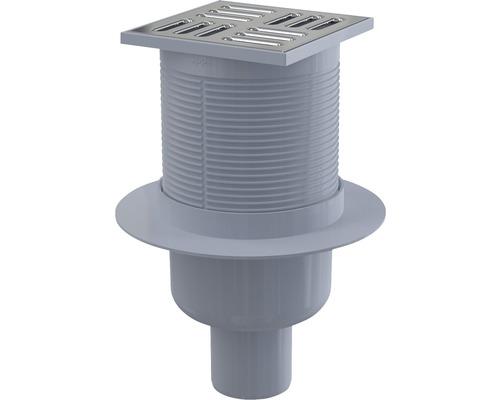 Bodenablauf 105x105/50 vertikal Bauhöhe 79 mm