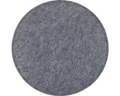 Sitzkissen Filz Auflage grau Ø 35 cm