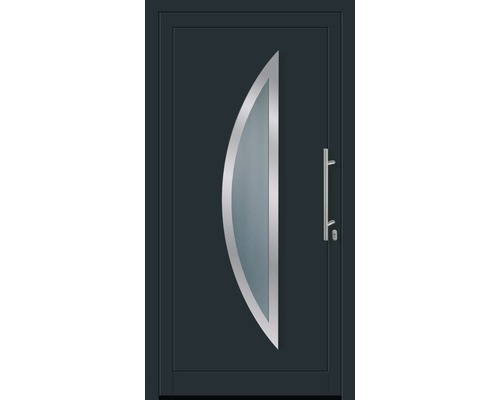 Eingangstür Anthrazit haustür aron aluminium modell 630 100x200 cm rechts weiß anthrazit