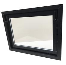 Fenêtre de cave basculante plastique brun 600x400 mm avec verre isolant-thumb-0