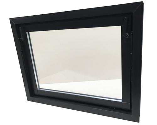 Fenêtre de cave basculante plastique brun 600x400 mm avec verre isolant