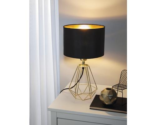 Lampe de table Carlton 2 noir/or 1 ampoule h 305 mm