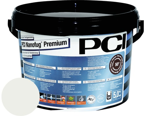 PCI Nanofug Premium Variabler Flexfugenmörtel für alle Fliesen und Natursteine pergamon 5 kg