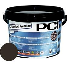 Mortier Flex de jointoiement variable PCI Nanofug Premium pour tous les carrelages et pierres naturelles marron foncé 5 kg-thumb-0