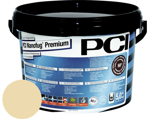 Mortier Flex de jointoiement variable PCI Nanofug Premium pour tous les carrelages et pierres naturelles anémone 5 kg