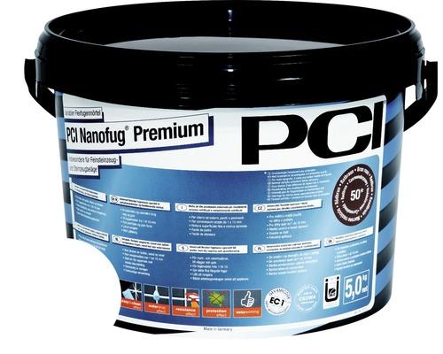 Mortier Flex de jointoiement variable PCI Nanofug Premium pour tous les carrelages et pierres naturelles blanc 5 kg