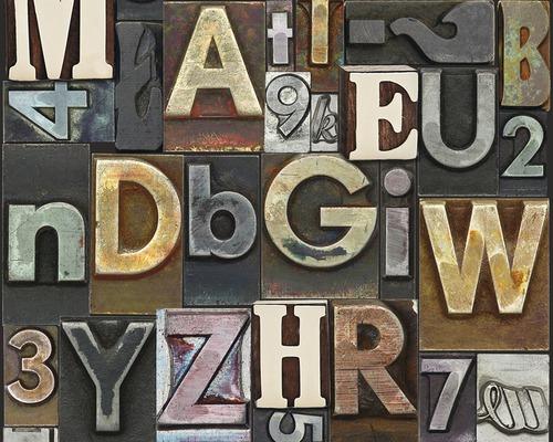 Panneau pop.up Letters marron-0