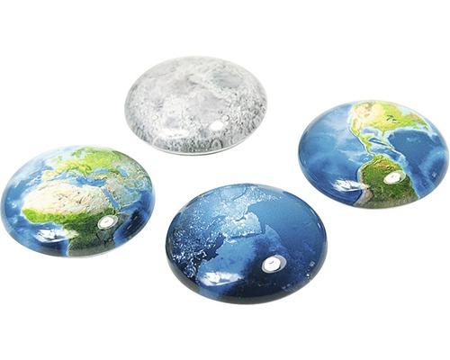Aimants décoratifs ronds Terre set de 4