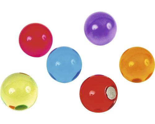 Aimants décoratifs Boule Bolla set de 6 multicolores