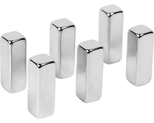 Aimants décoratifs magic stick set de 6 argent