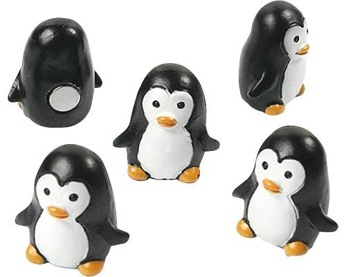 Aimants décoratifs Pingouin set de 6 blanc/noir