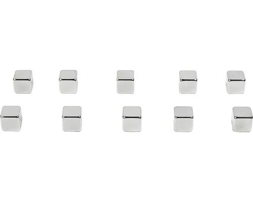 Aimants décoratifs Kubiq set de 10 argent