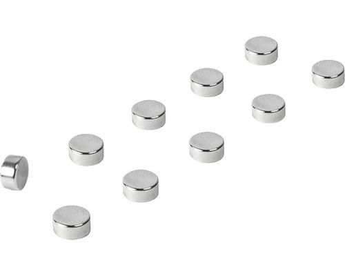Aimants décoratifs Steely set de 10 argent