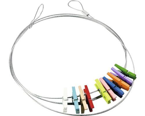 Câble photos multicolore 10pinces 100 cm