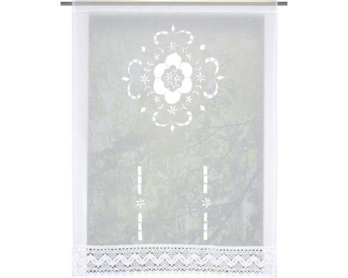 Scheibengardine Alegra weiß 90x100 cm