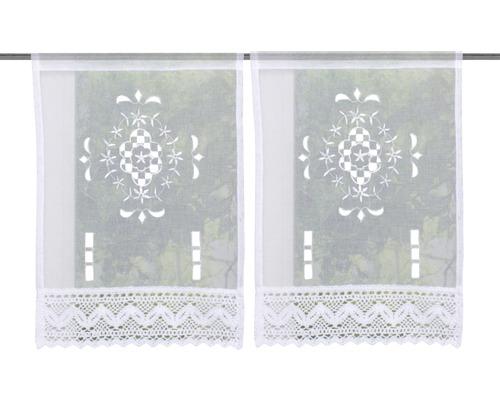 Scheibengardine Alegra weiß 30x45 cm