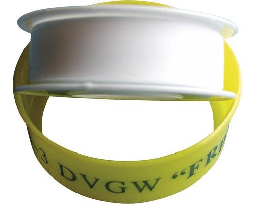 Bande d''étanchéité en PTFE DVGW 12 mm x 0,1 mm x 12m