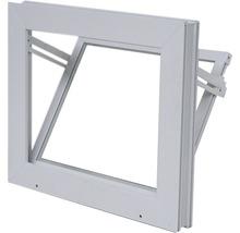 Fenêtre de cave basculante plastique blanc 600x400 mm avec verre isolant-thumb-0