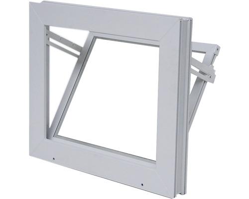 Fenêtre de cave basculante plastique blanc 600x400 mm avec verre isolant