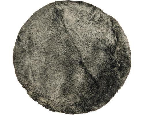 Fourrure synthétique de mouton noir Ø 100 cm