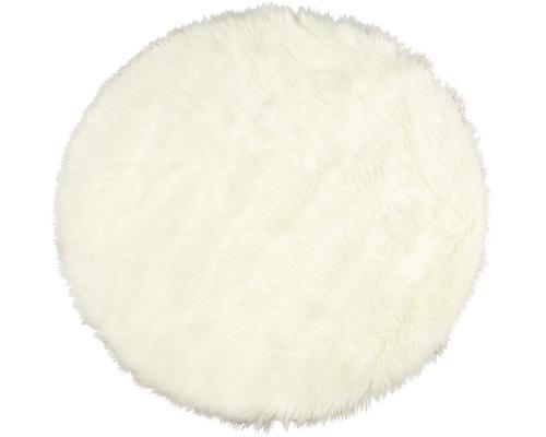 Fourrure synthétique de mouton blanc Ø 100 cm