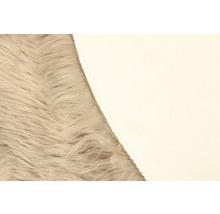 Galette de chaise fourrure synthétique taupe Ø 35 cm-thumb-1