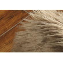 Galette de chaise fourrure synthétique taupe Ø 35 cm-thumb-2