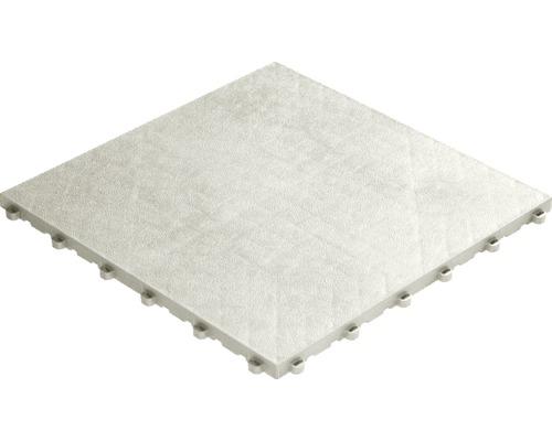 Dalle à clipser en plastique florco floor, 40 x 40 cm, blanc