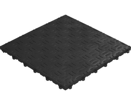 Dalle à clipser en plastique florco grip 40x40 cm noir