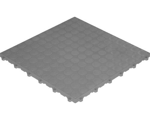 Dalle à clipser en plastique florco spot, 40 x 40 cm, gris