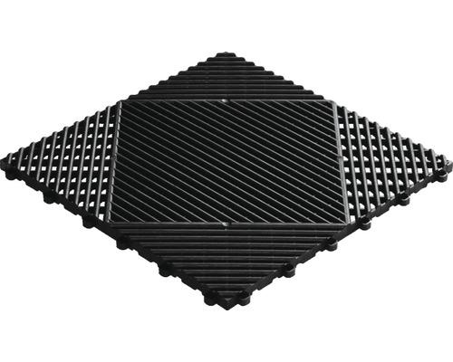 Dalle à clipser en plastique florco classic 40x40 cm noir