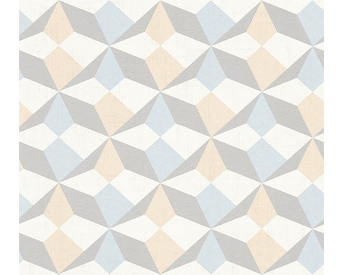 Papier Peint Intisse 34133 2 Scandinavian Style Origami Beige Bleu