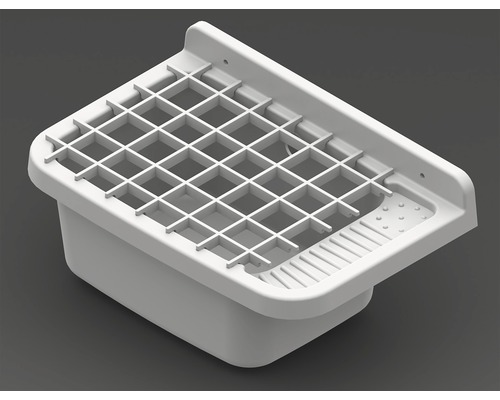 Bac d''évier en plastique 60 cm avec grille
