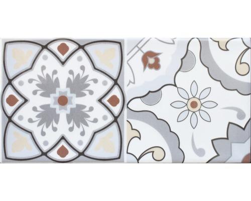 Carrelage décoratif en grès mélange Loft 20x10cm avec mélange brillant bord arrondi
