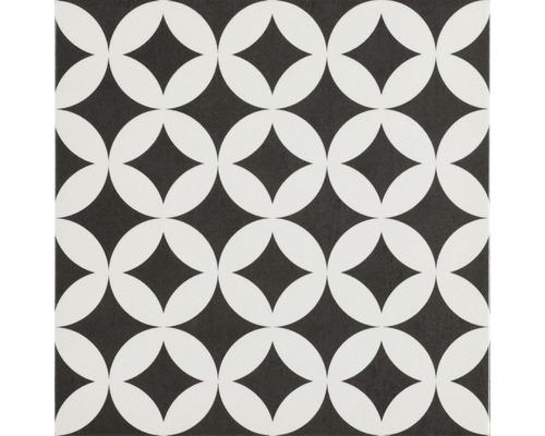 Carrelage décoratif en grès cérame fin mélange Brügge noir 22,3x22,3 cm