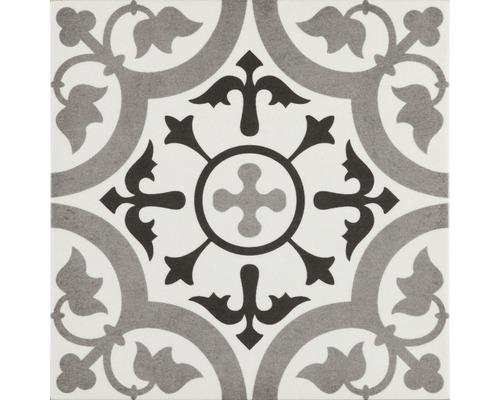 Carrelage décoratif en grès cérame fin mélange Brügge gris 22,3x22,3 cm