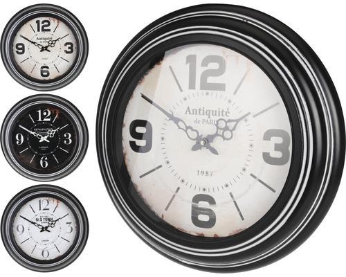 Horloge murale en métal noire Ø 45 cm