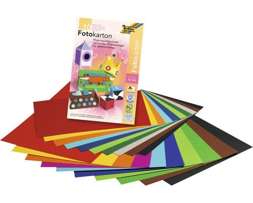 Bloc de carton photo 22x33cm multicolore 10feuilles
