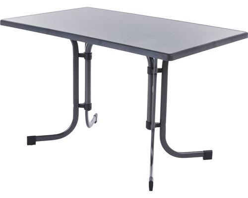 Table de jardin avec plateau de table Sevelit 115 x 70 x 72 cm pliante ardoise