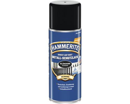 Laque de protection pour métaux HAMMERITE noir brillant 400 ml