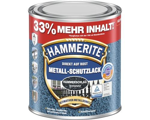 Peinture à effet martelé HAMMERITE noir 1 l (33 % de contenu en plus !)