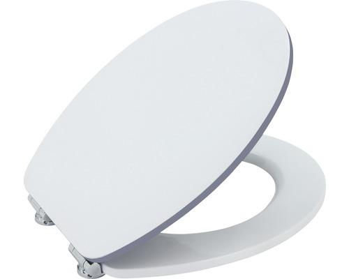 Abattant WC form & style Color Edge blanc gris