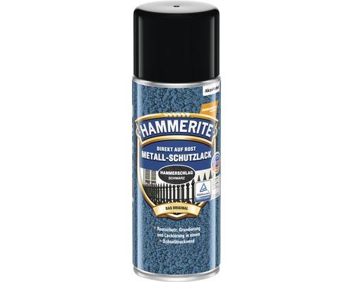 Peinture à effet martelé HAMMERITE Laque à effets noir 400ml