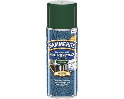 Peinture à effet martelé HAMMERITE Laque à effets vert foncé 400ml