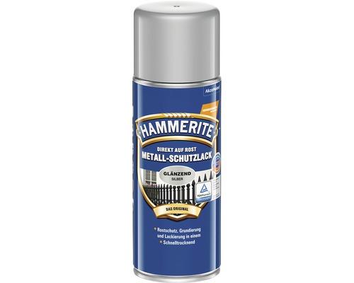 Spray de protection pour métaux HAMMERITE gris argent brillant 400 ml
