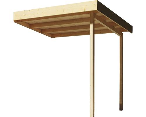 Toit en appentis Karibu pour abris de jardin sauna Californit et Rhodonit V 212x227x228cm